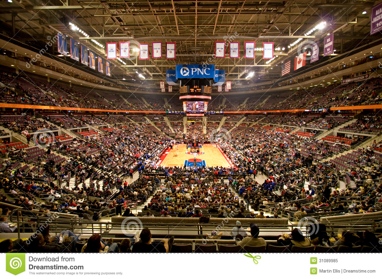 Wide Angle View Of The Palace Of Auburn Hills Editorial Image Image Of Flash Arena 31089985
