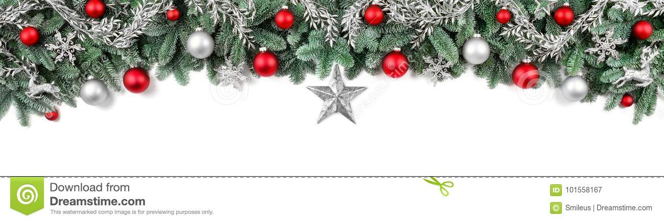 Wide bow-shaped Christmas border