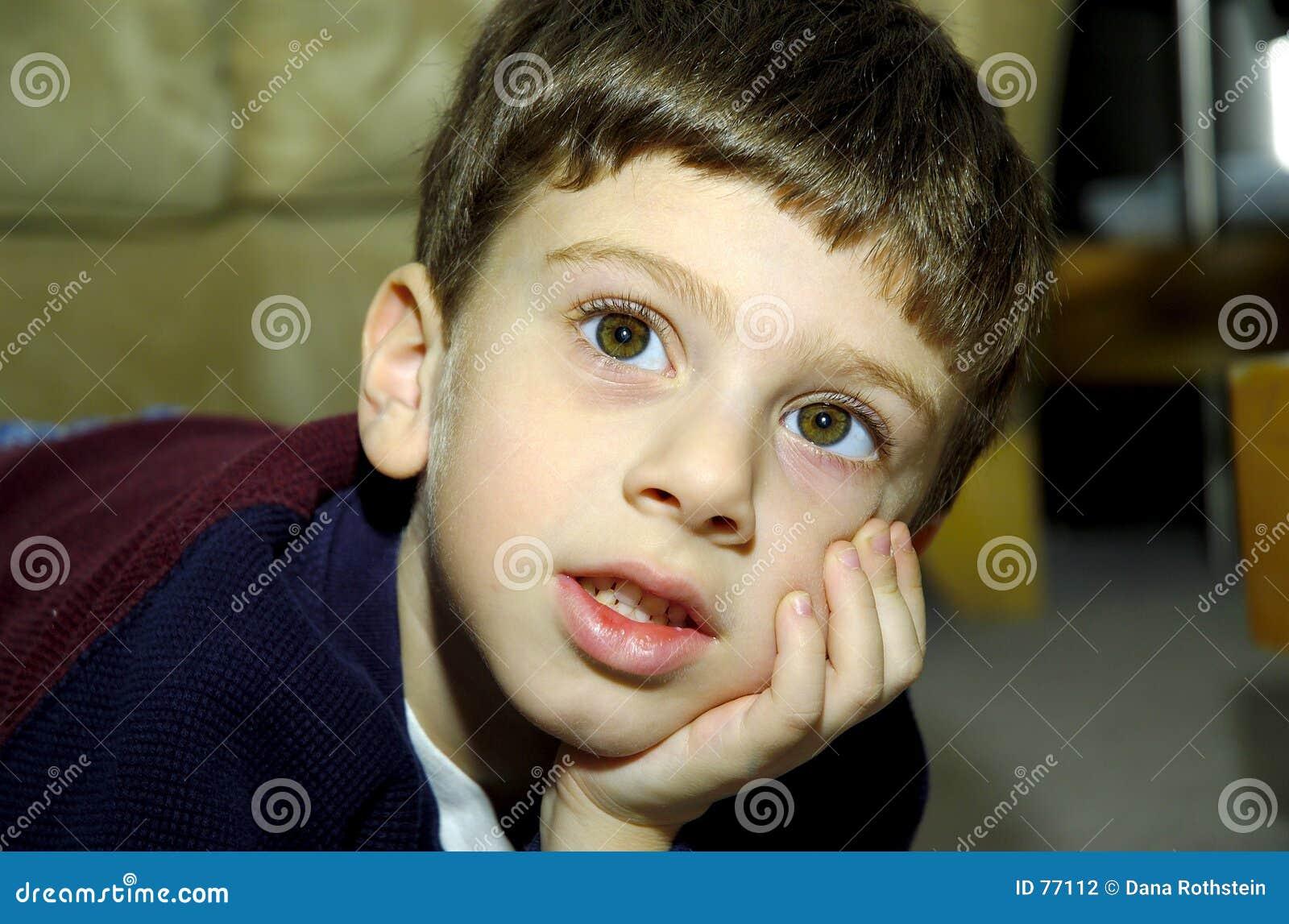 Wide eyed child