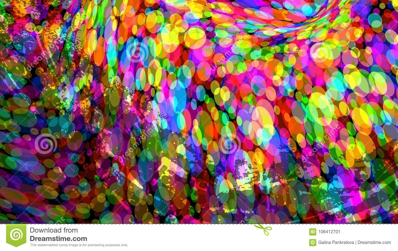 Wide Format Abstract Colorful Wallpaper Vector Stock Vector