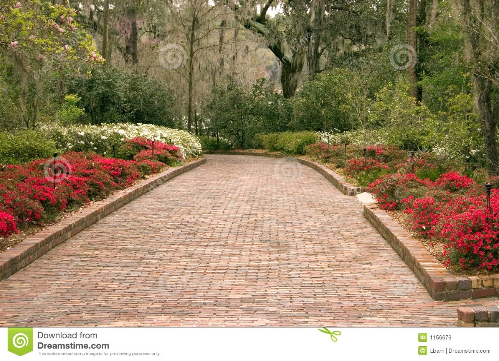 Wide Garden Walkway Royalty Free Stock Image - Image: 1156676