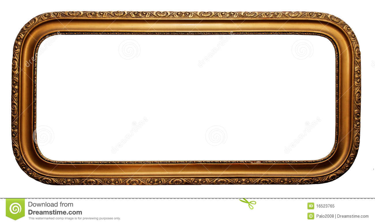 Horizontal Gold Picture Frames Stock Photo - Image of pattern ...