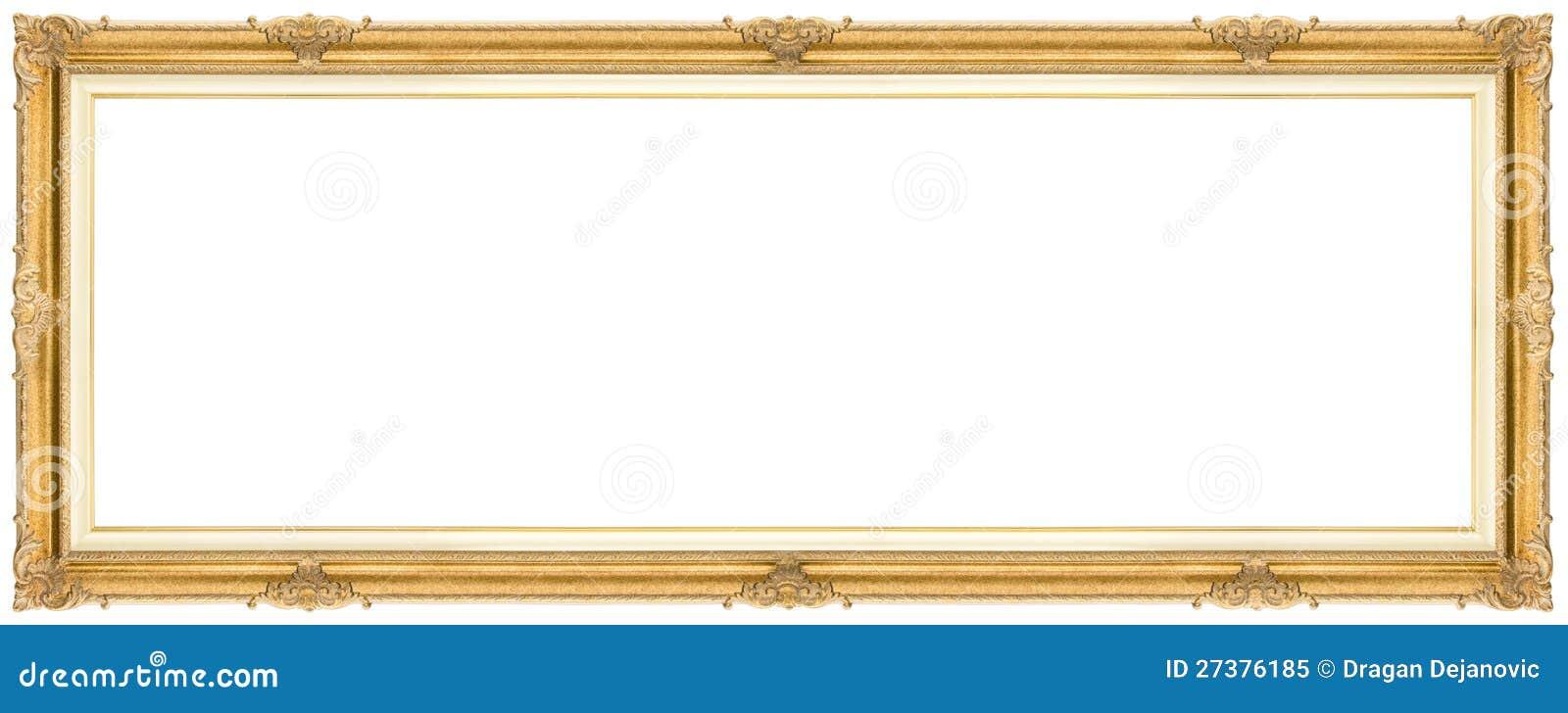Wide Golden Frame stock image. Image of antique, gallery - 27376185
