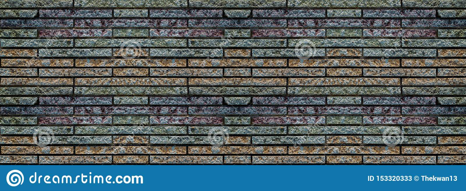 Wide old brick wall , vintage brick wall in a background image