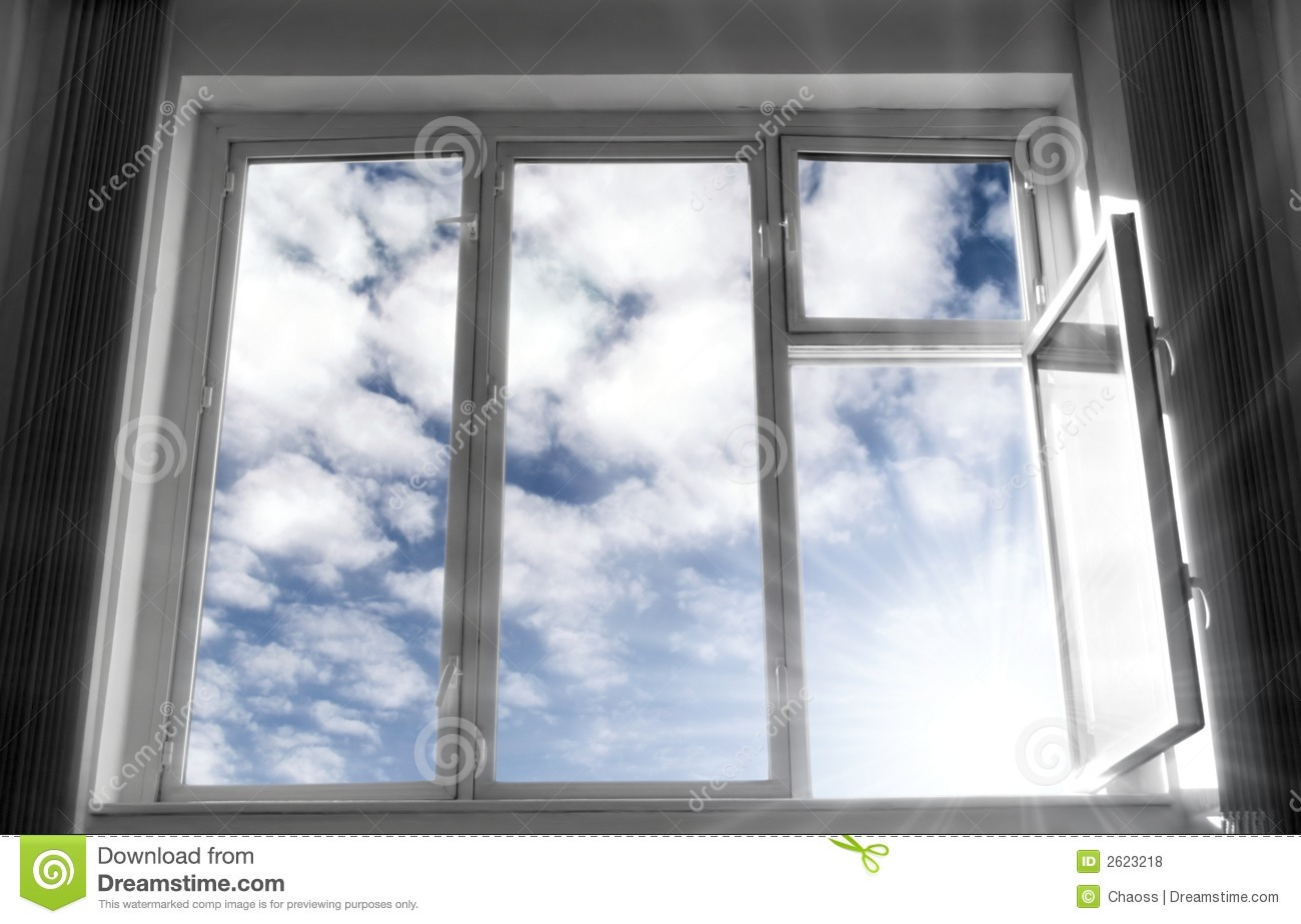 Download Wide open window stock photo. Image of frame, design, aspirations - 2623218