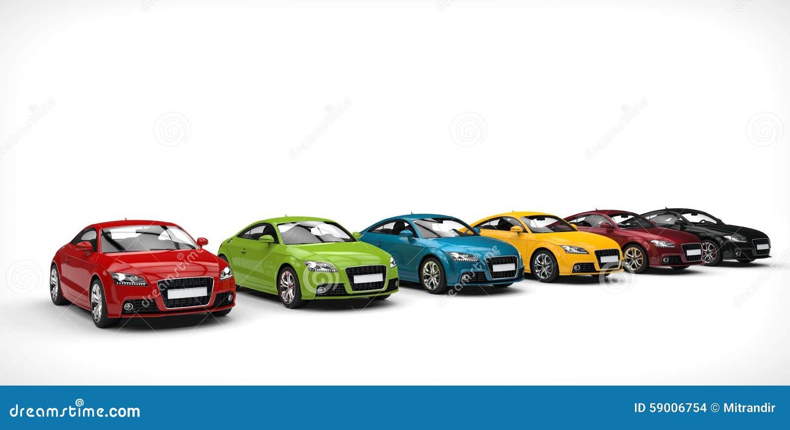 Wide Range Of Color - Cars stock illustration. Illustration of ...