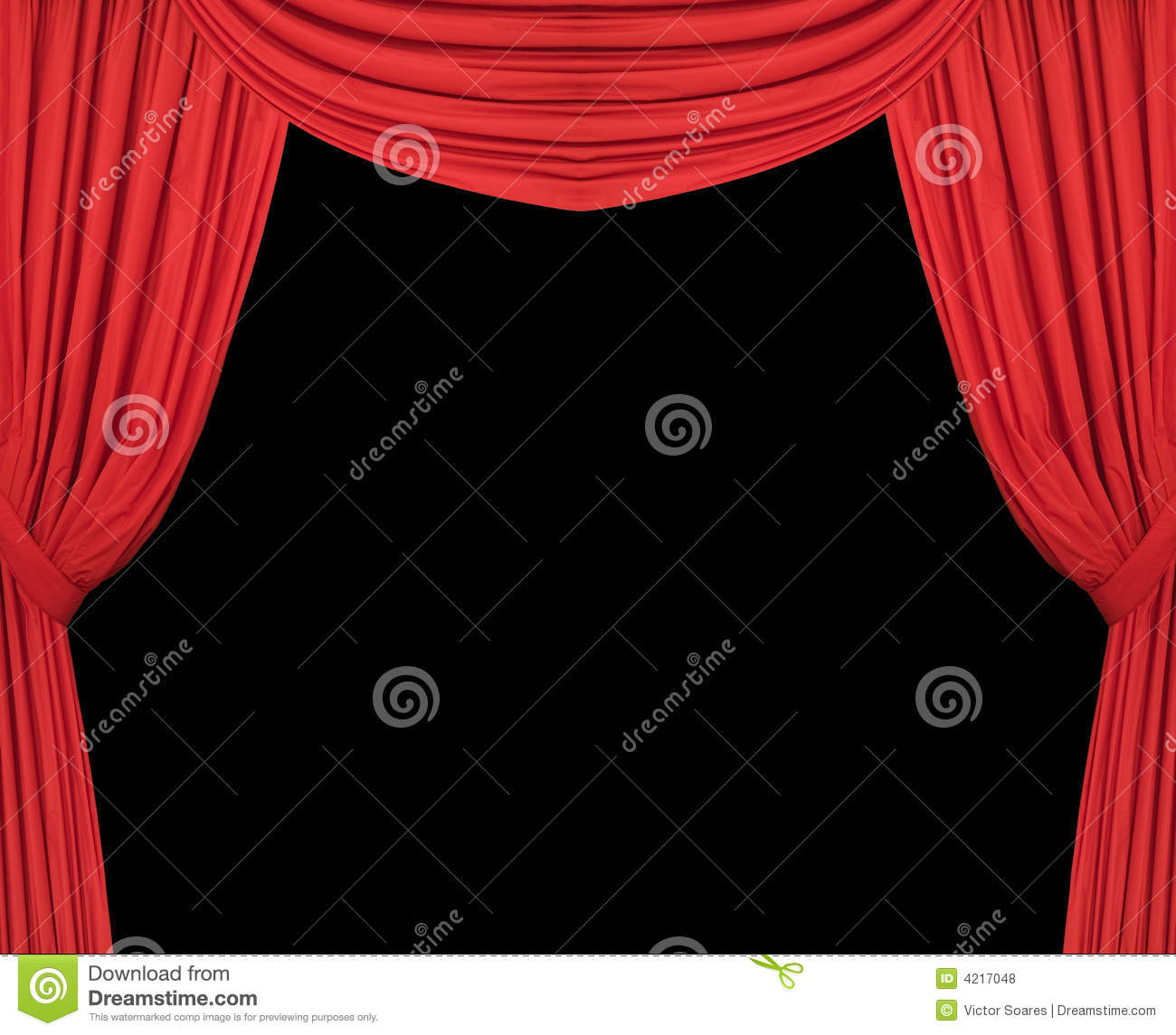 Closed theater curtains - Royalty Free Stock Photo