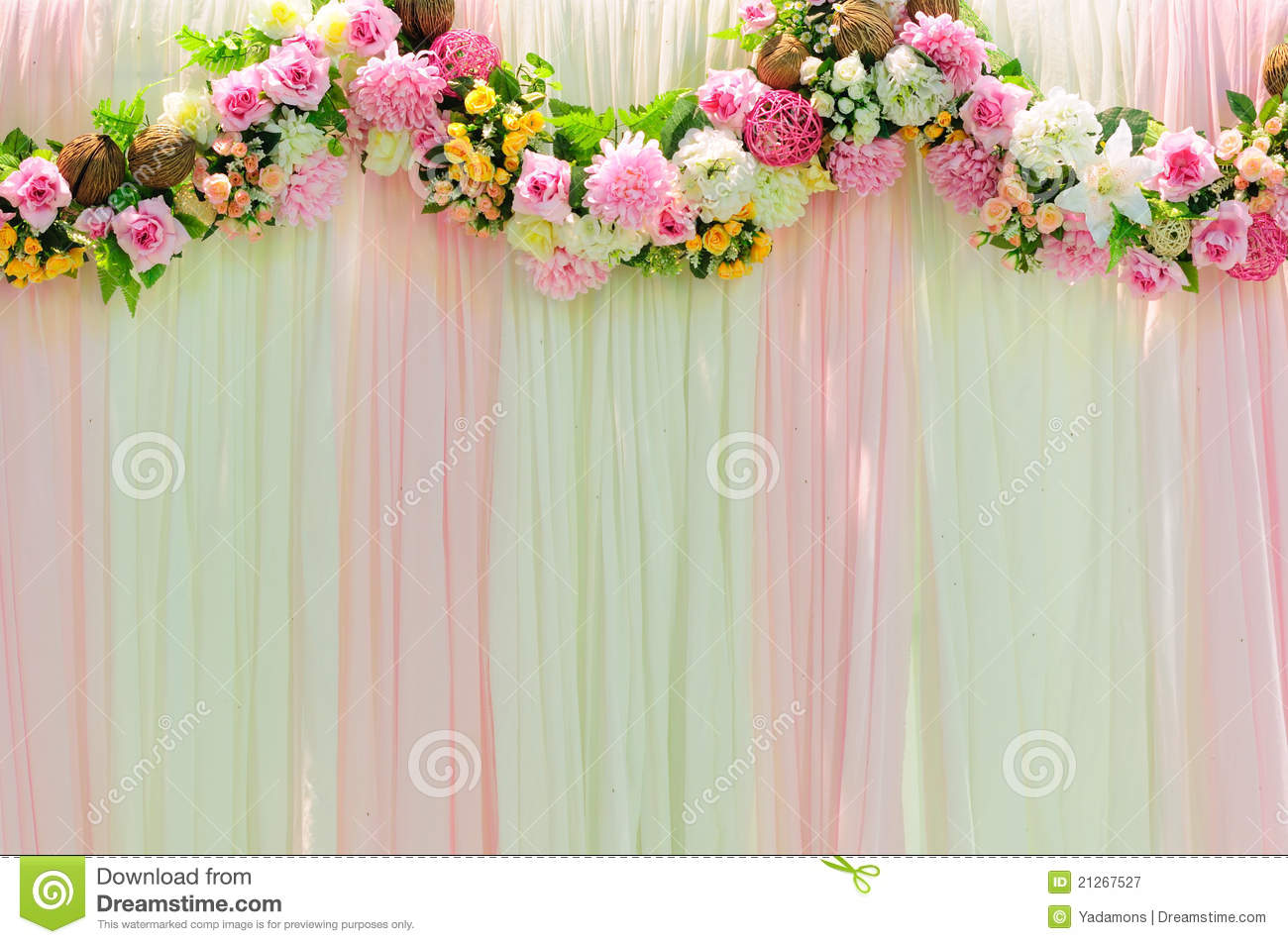 Wide scene wedding background stock image image of rose for Background decoration for wedding