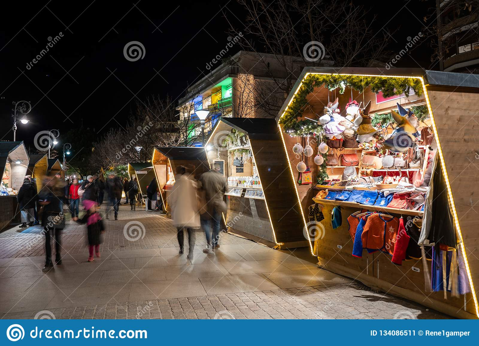 63fa8dc7e04e63 Wide Shot Of A Christmas Market Booth In Merano South Tyrol Italy ...