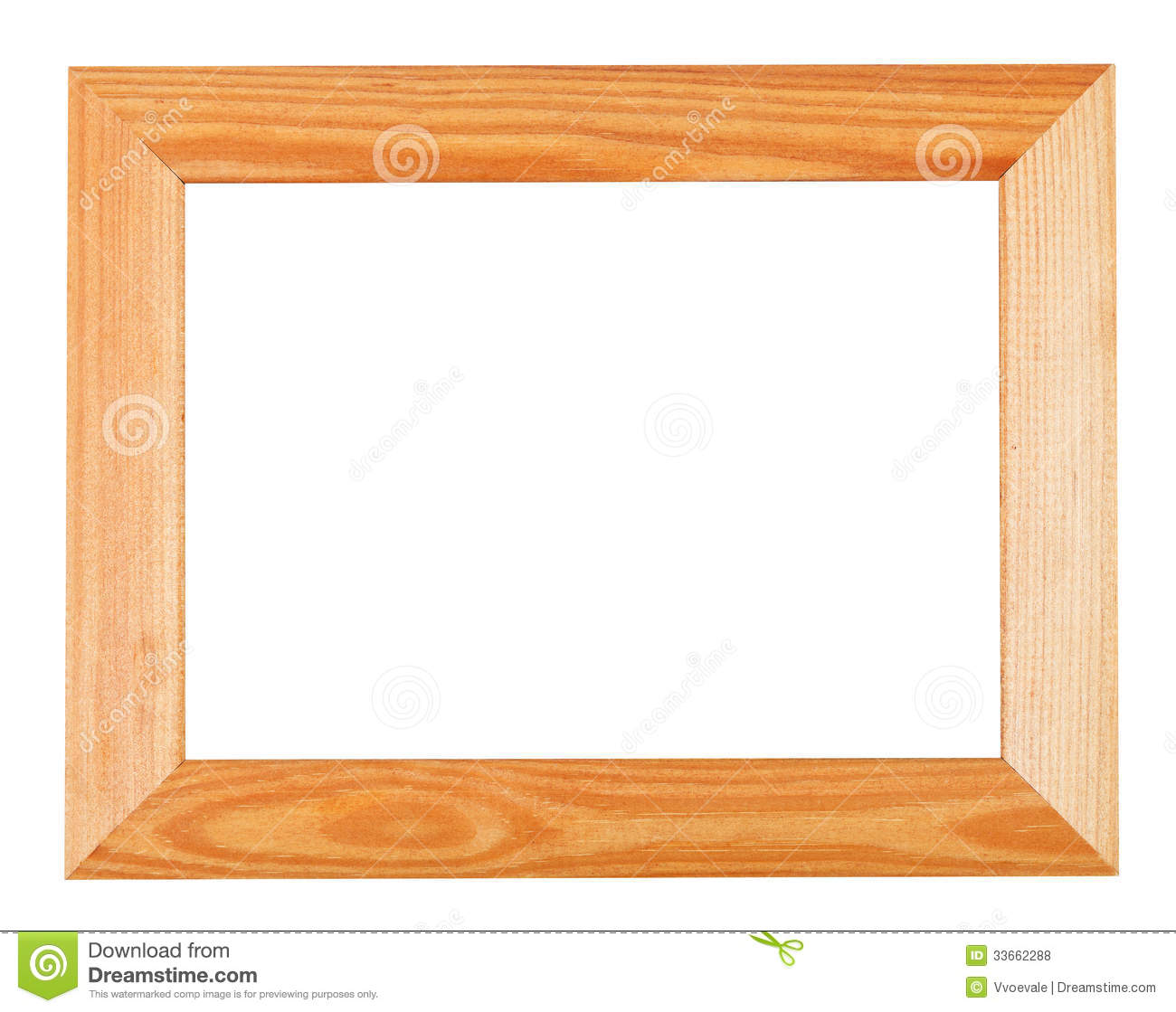 Wide Simple Wooden Picture Frame Stock Photo - Image of photoframe ...