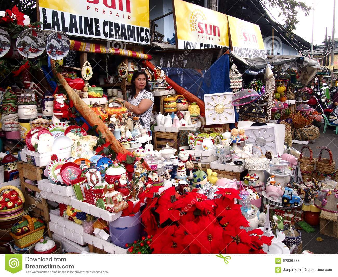 a wide variety of home and christmas decorations on display at a store in dapitan market - At Home Store Christmas Decorations