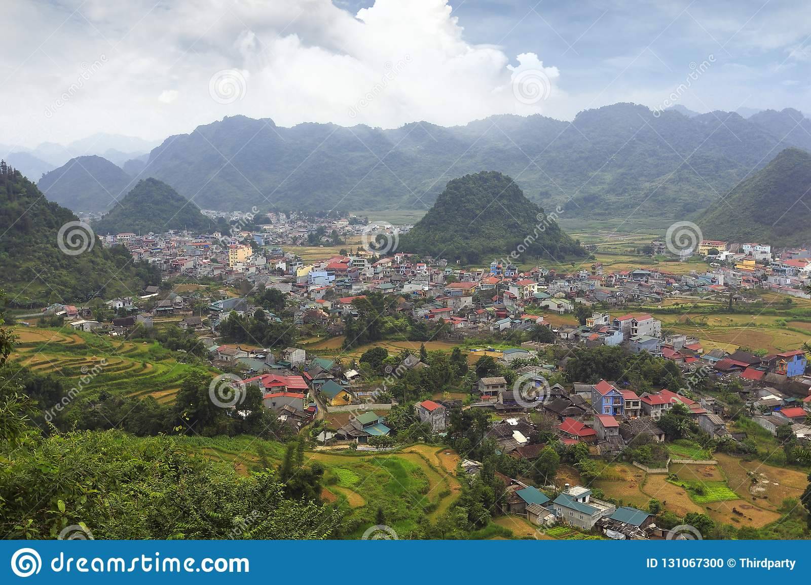 Wide view of the valley, vietnam