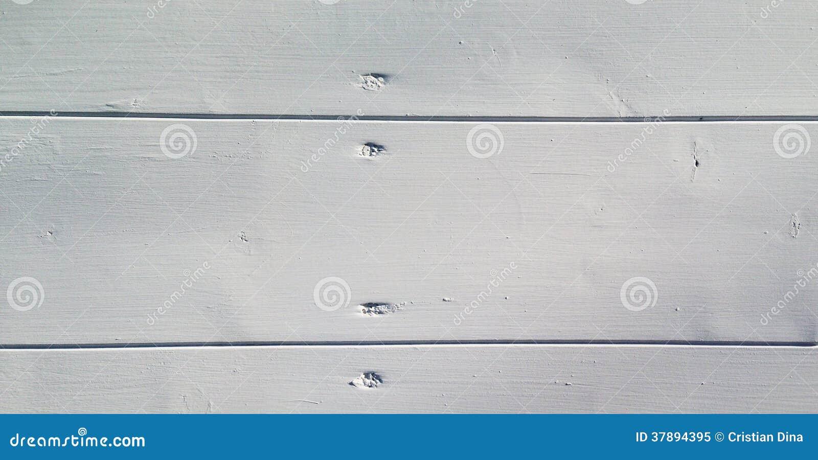 Wide white wooden board