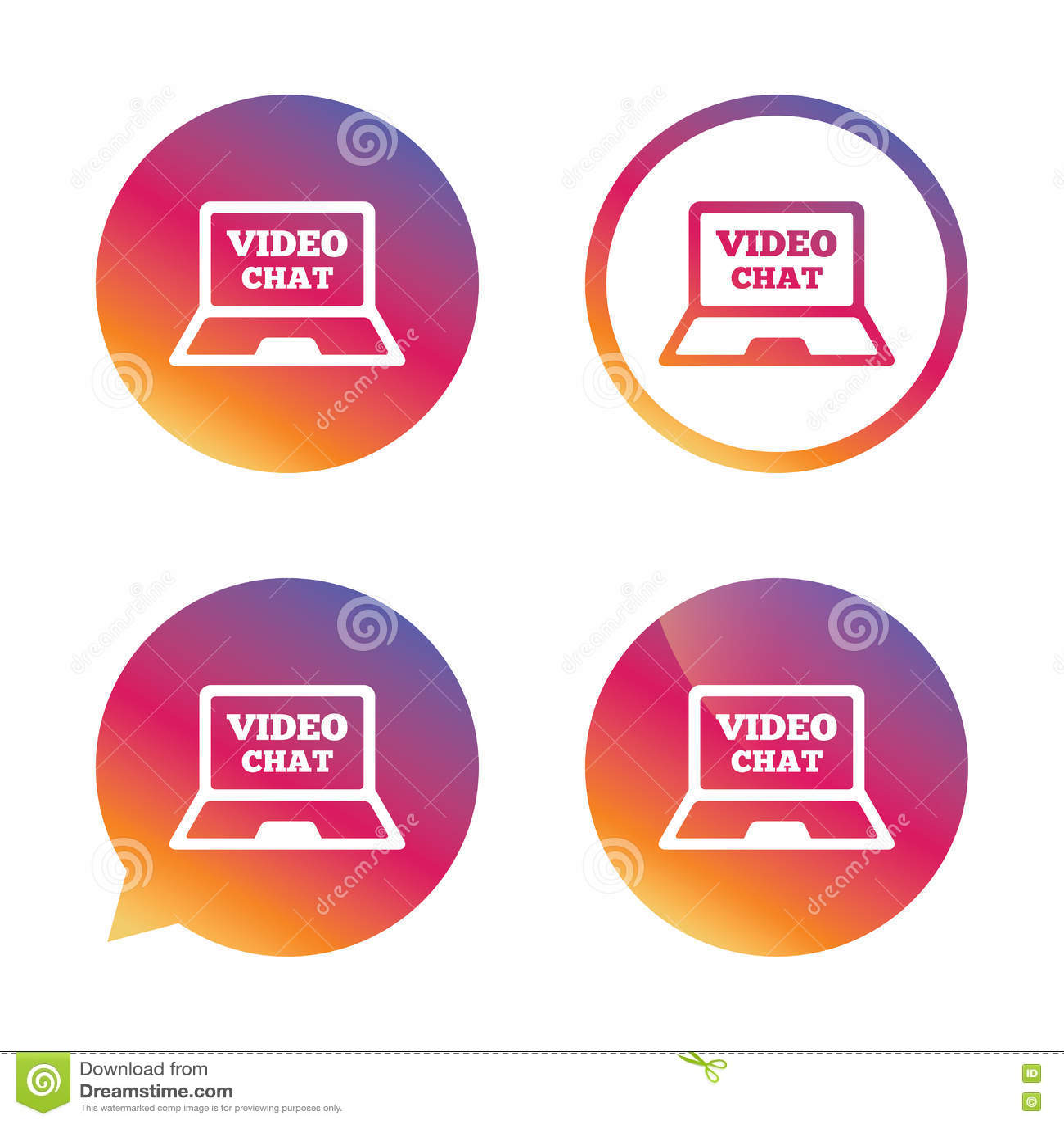 Wideo gadka laptopu znaka ikona Sieci komunikacja