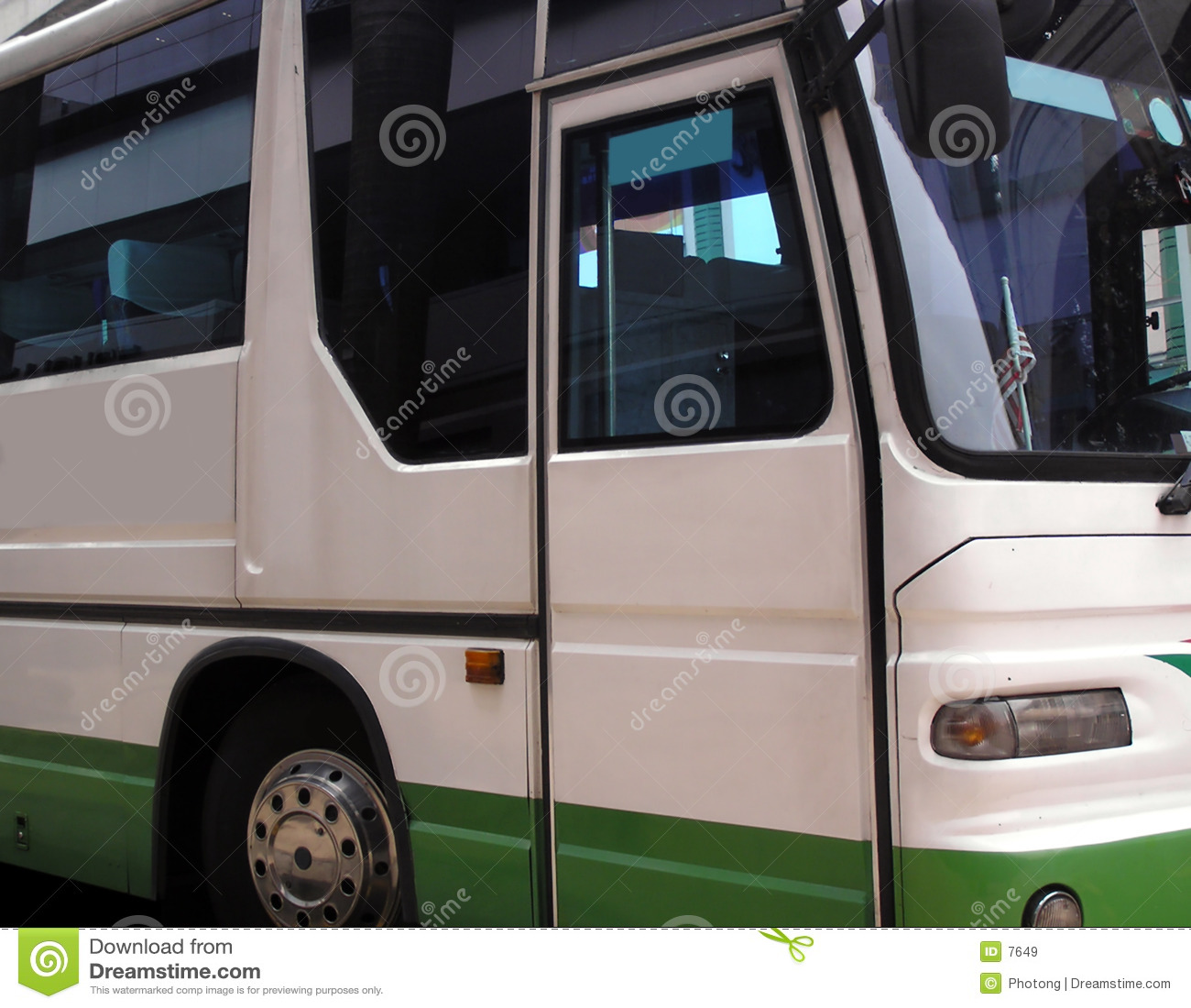 Widok boczny autobus
