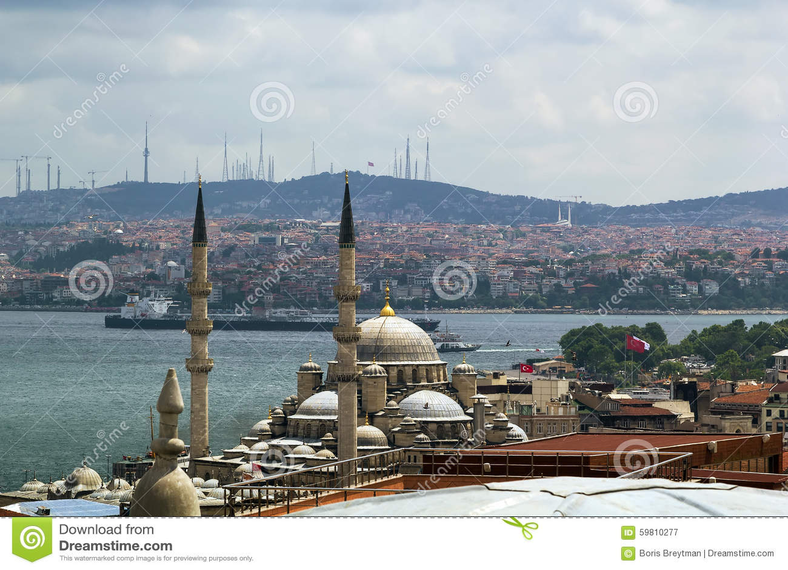 Widok Bosforus, Istanbuł