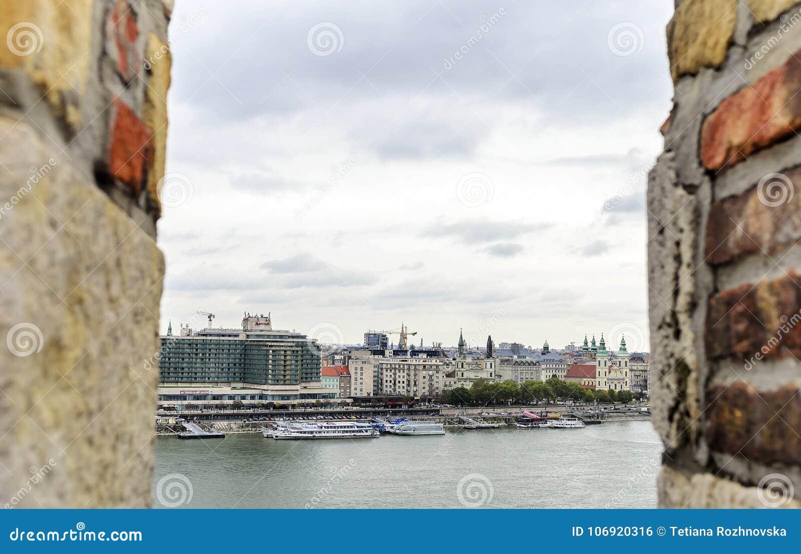 Widok Budapest od wzrosta
