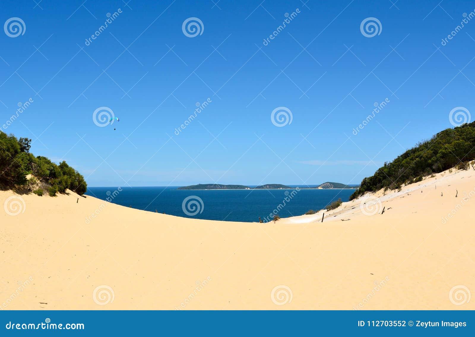 Widok Carlo Sandblow nad tęczy plaża w Queensland,