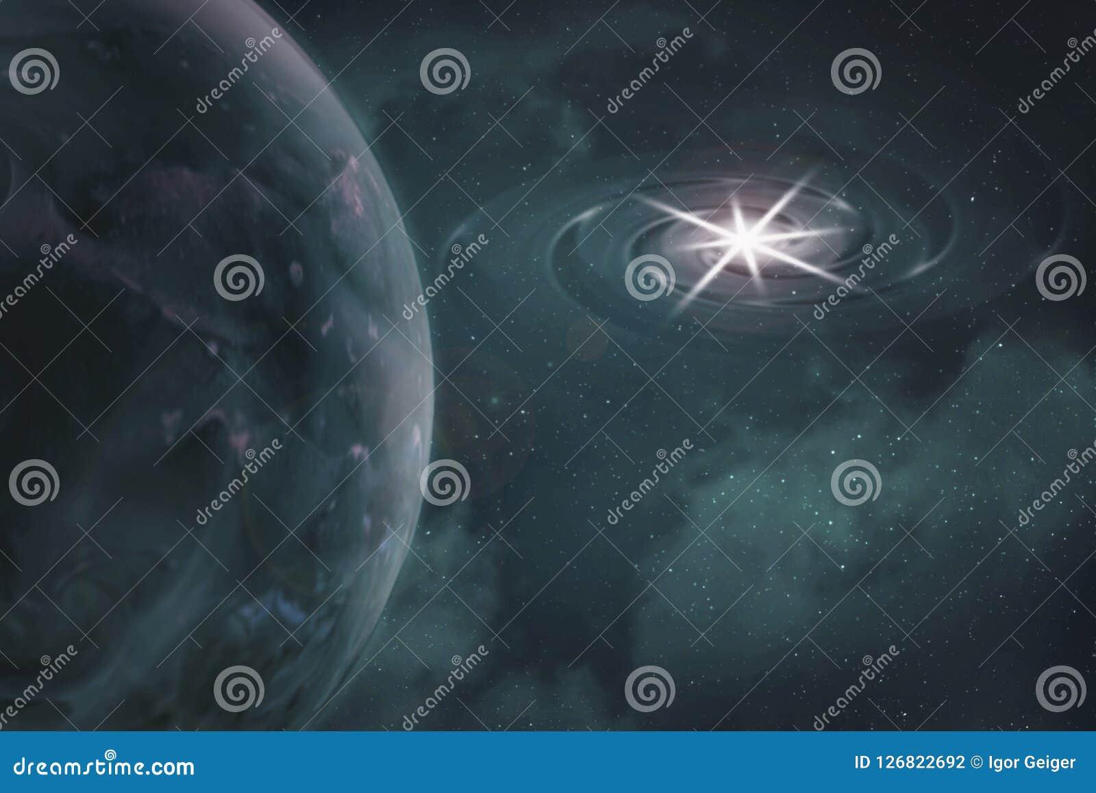 Widok czerep planety ziemia w przestrzeni od orbity, abstrakt