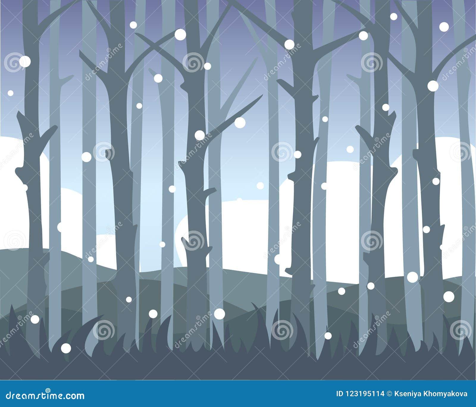 Widok Drzewni bagażniki