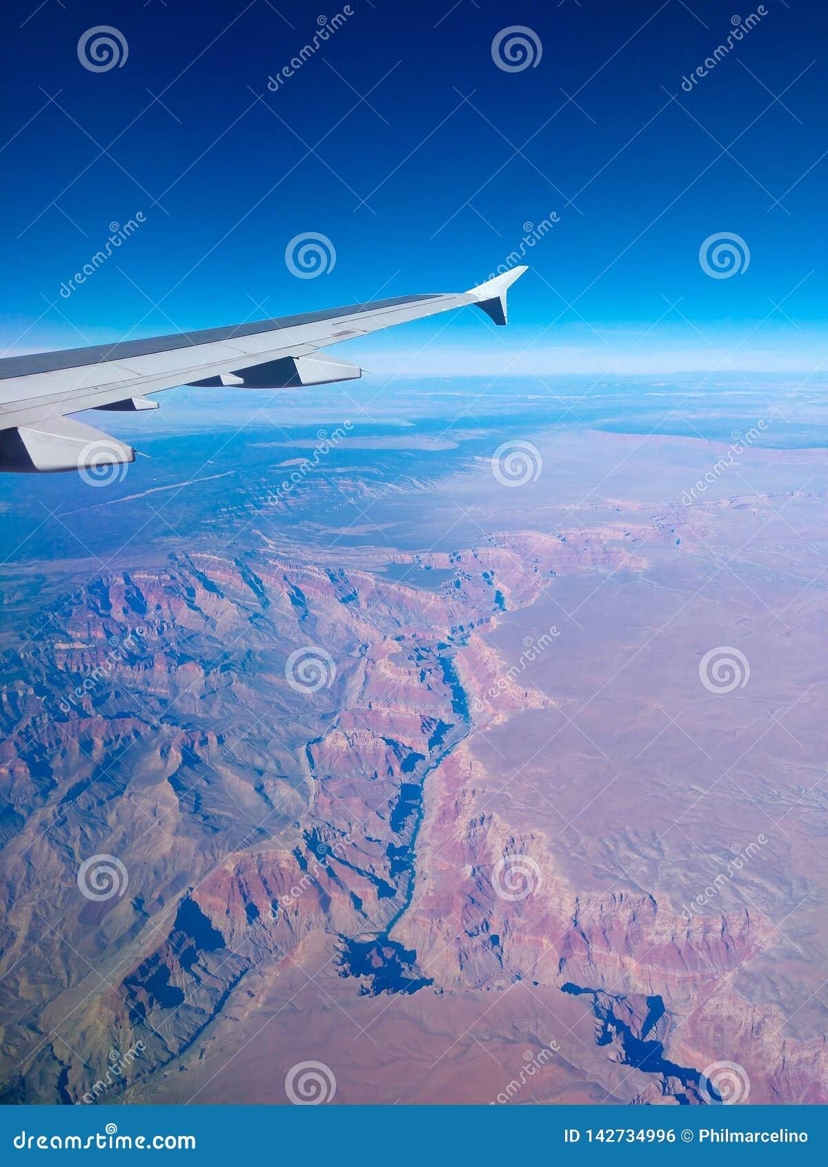 Widok Grand Canyon od nieba