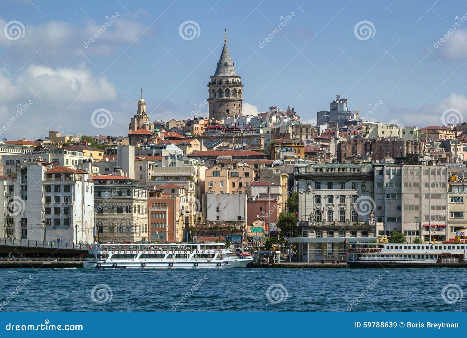 Widok Istanbuł Beyoglu teren