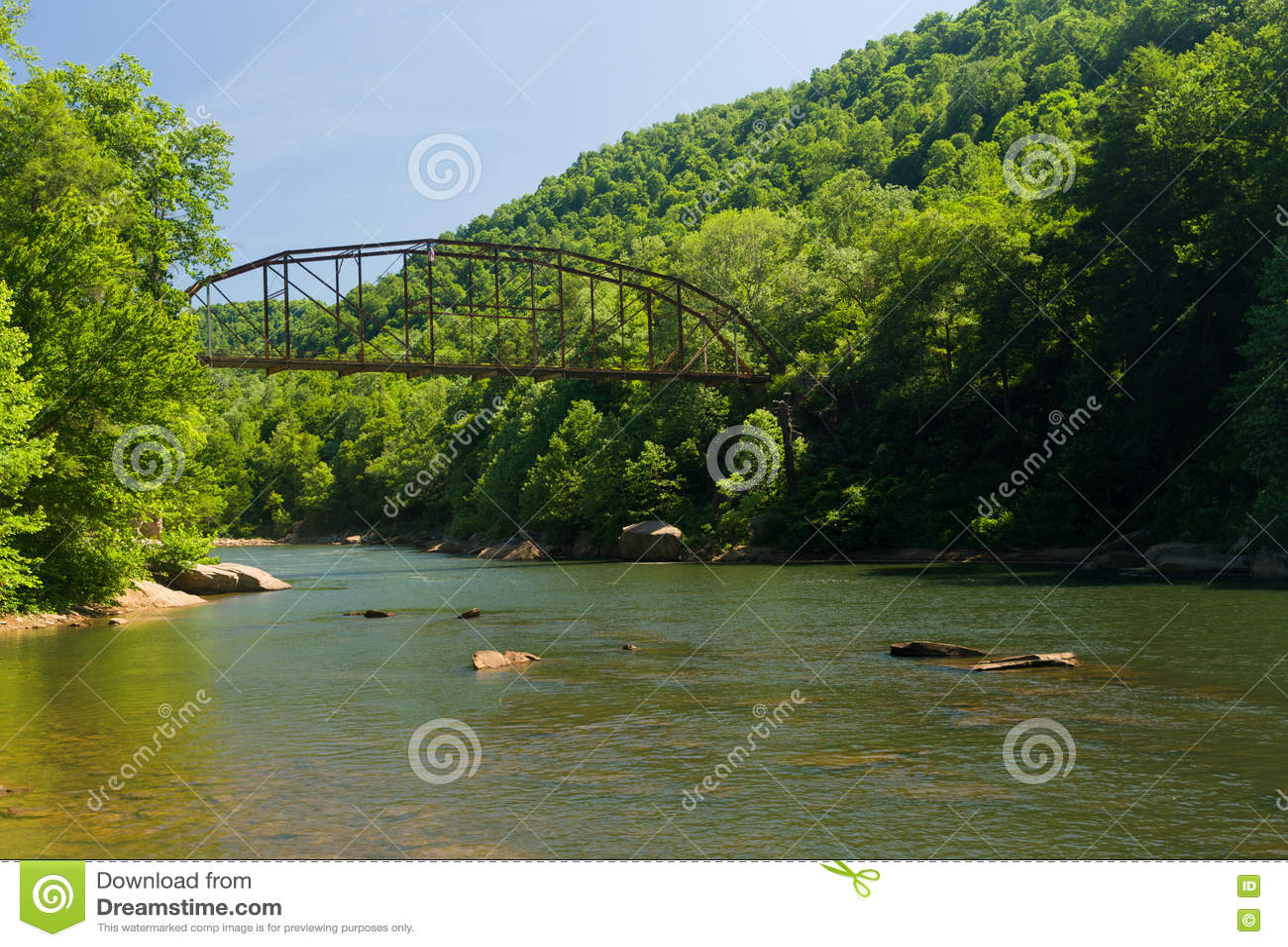 Widok Jenkinsburg most nad nabranie rzeką