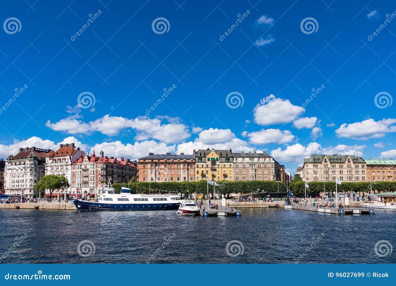 Widok kapitał Szwecja, Sztokholm