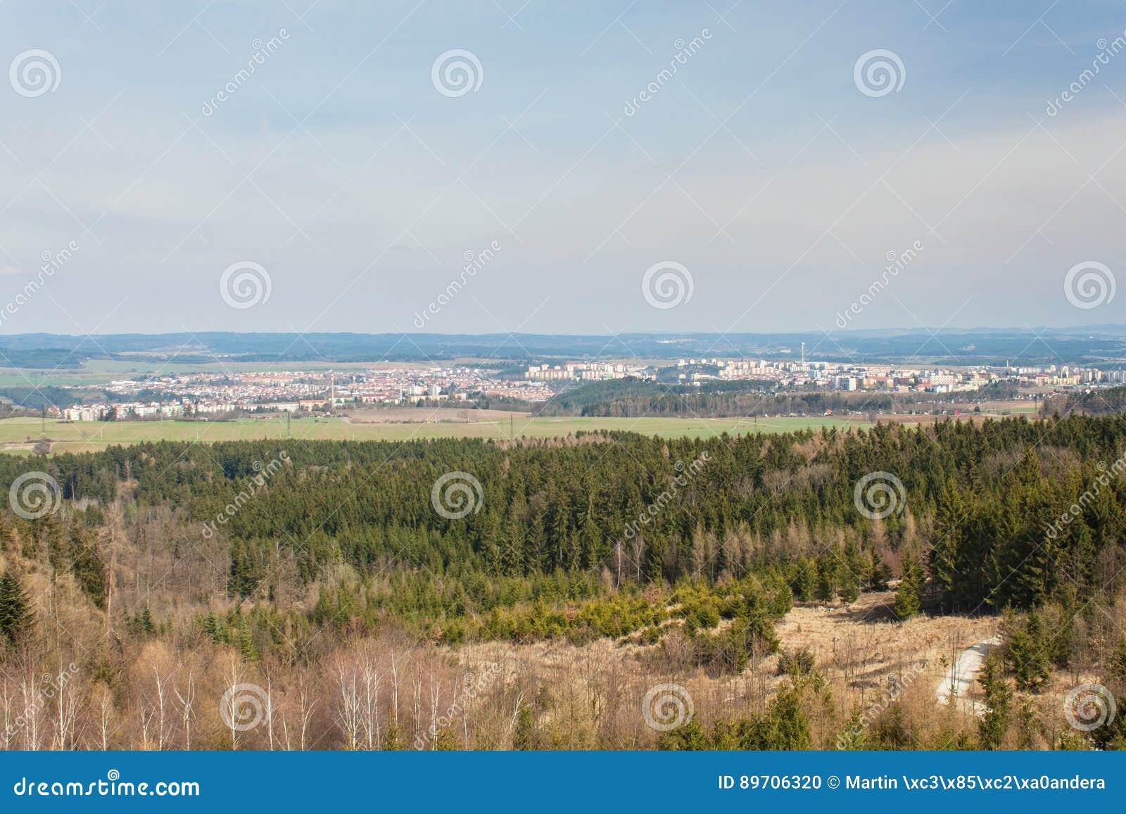 Widok miasteczko Trebic w republika czech UNESCO stary Żydowski miasteczko
