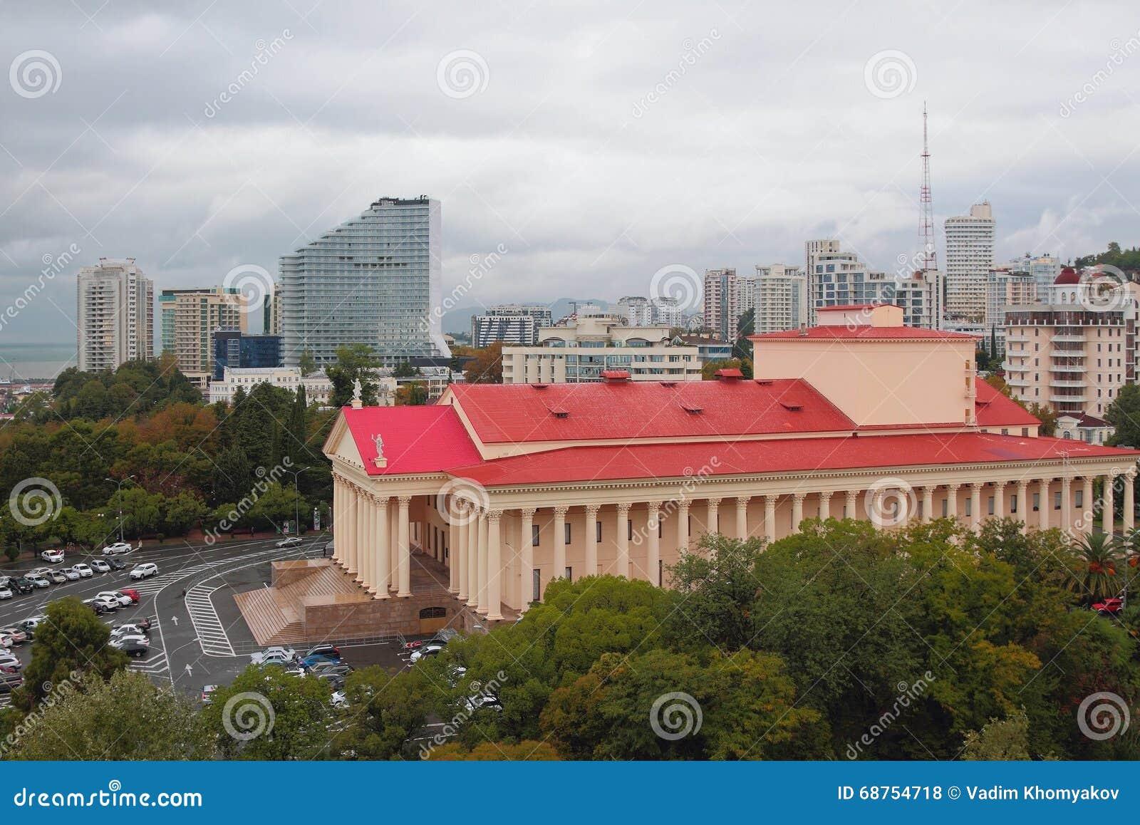 Widok miasto od above 2014 2018 filiżanki gier olimpijski Russia Sochi zima świat