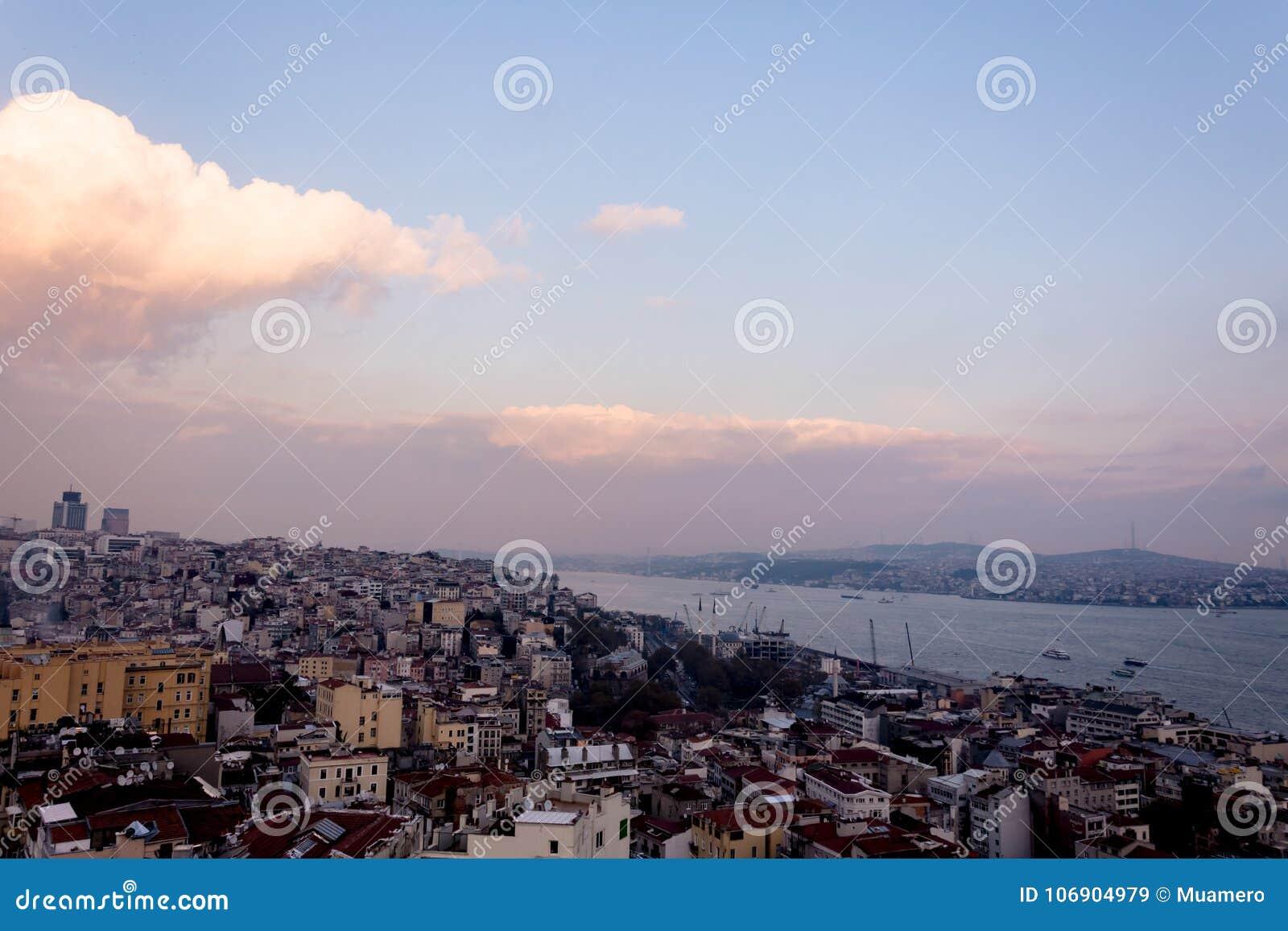Widok miastowa część Istanbuł miasto
