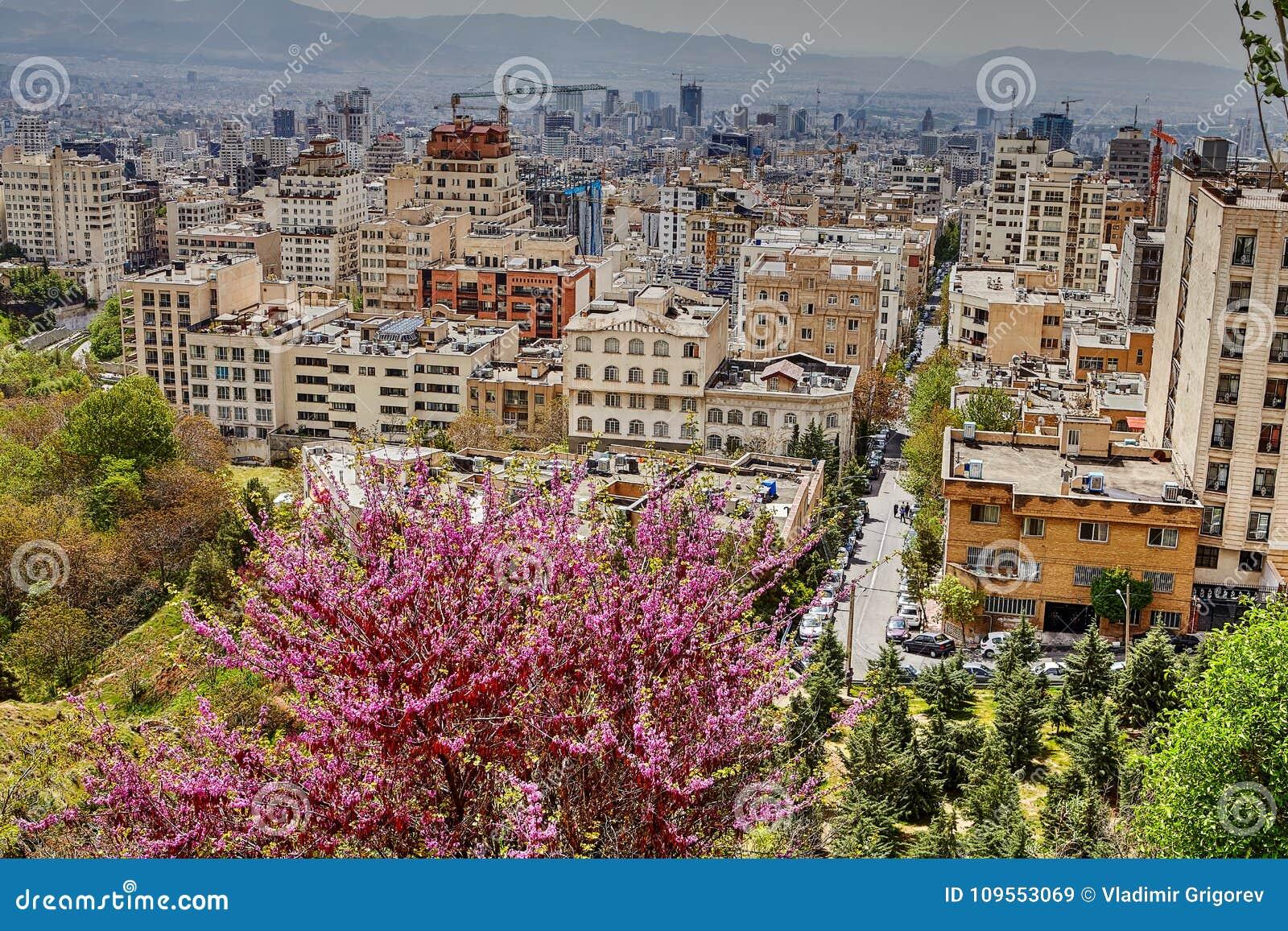 Widok mieszkanie domy w obszarze miejskim, Teheran, Iran