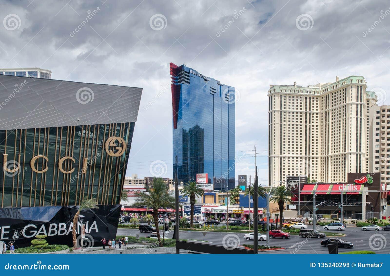 Widok na Las Vegas bulwaru głównym pasku