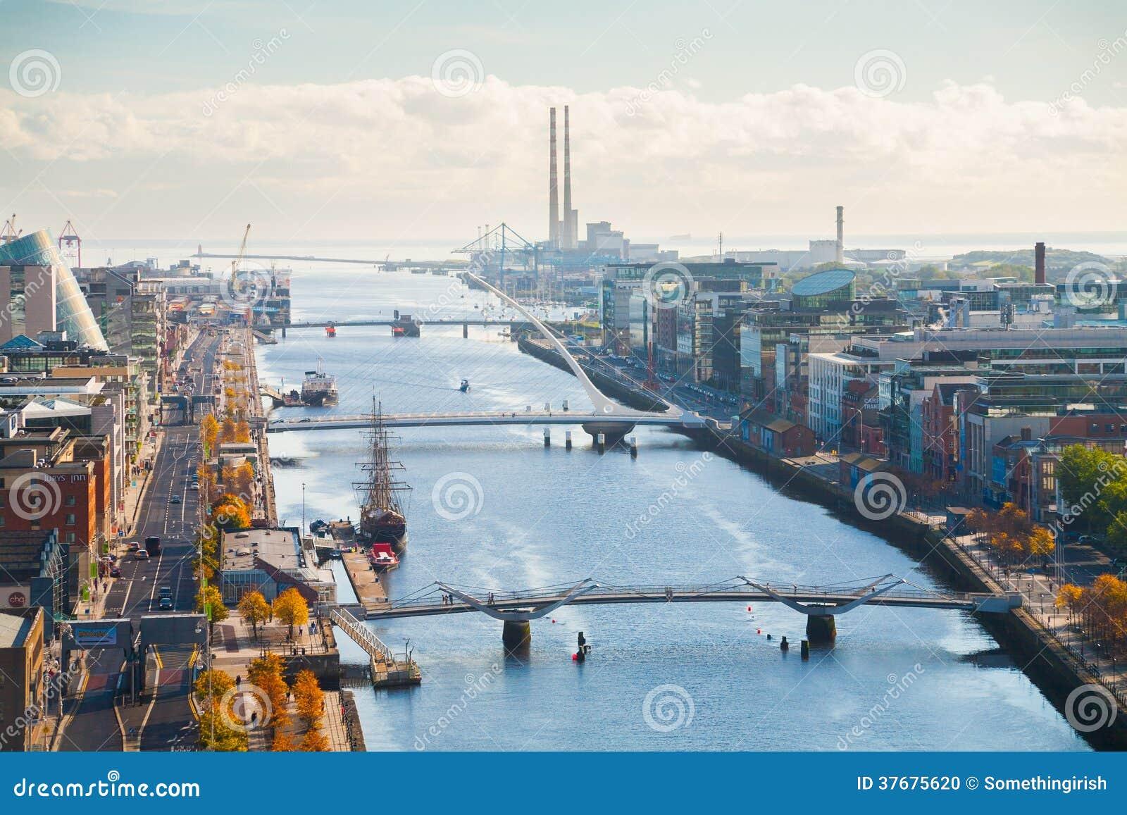Widok nad Dublin