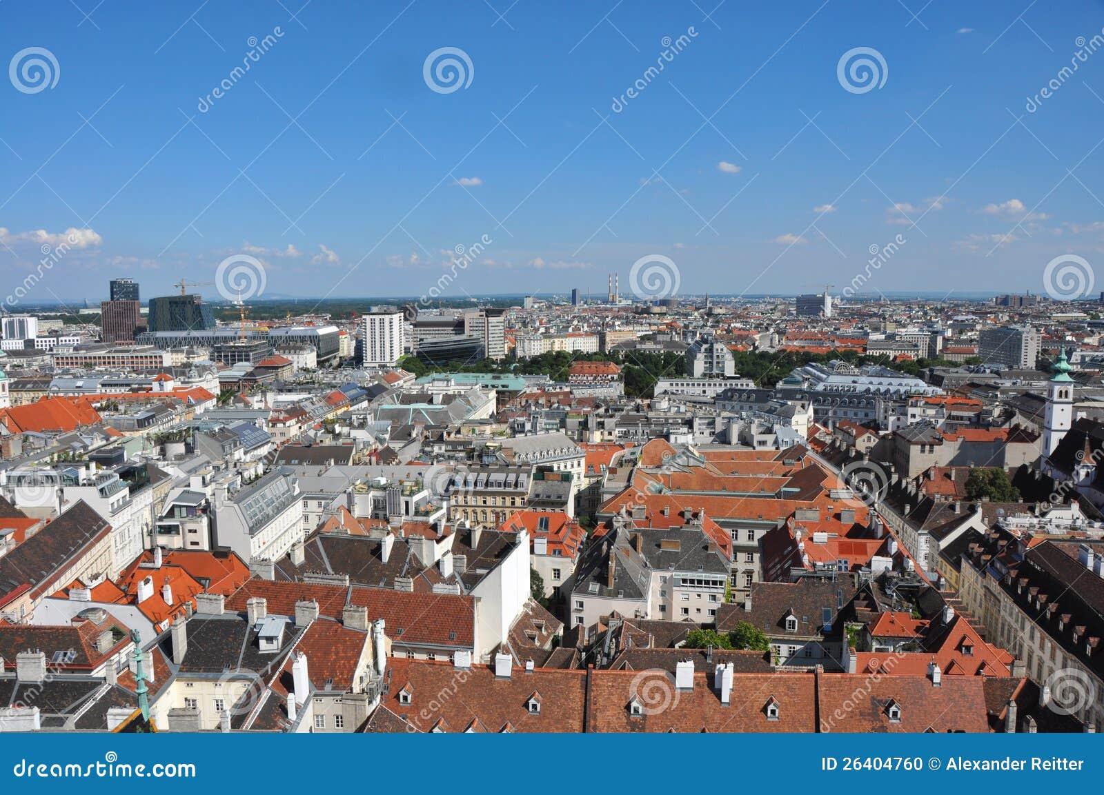 Widok nad Vienna, Austria
