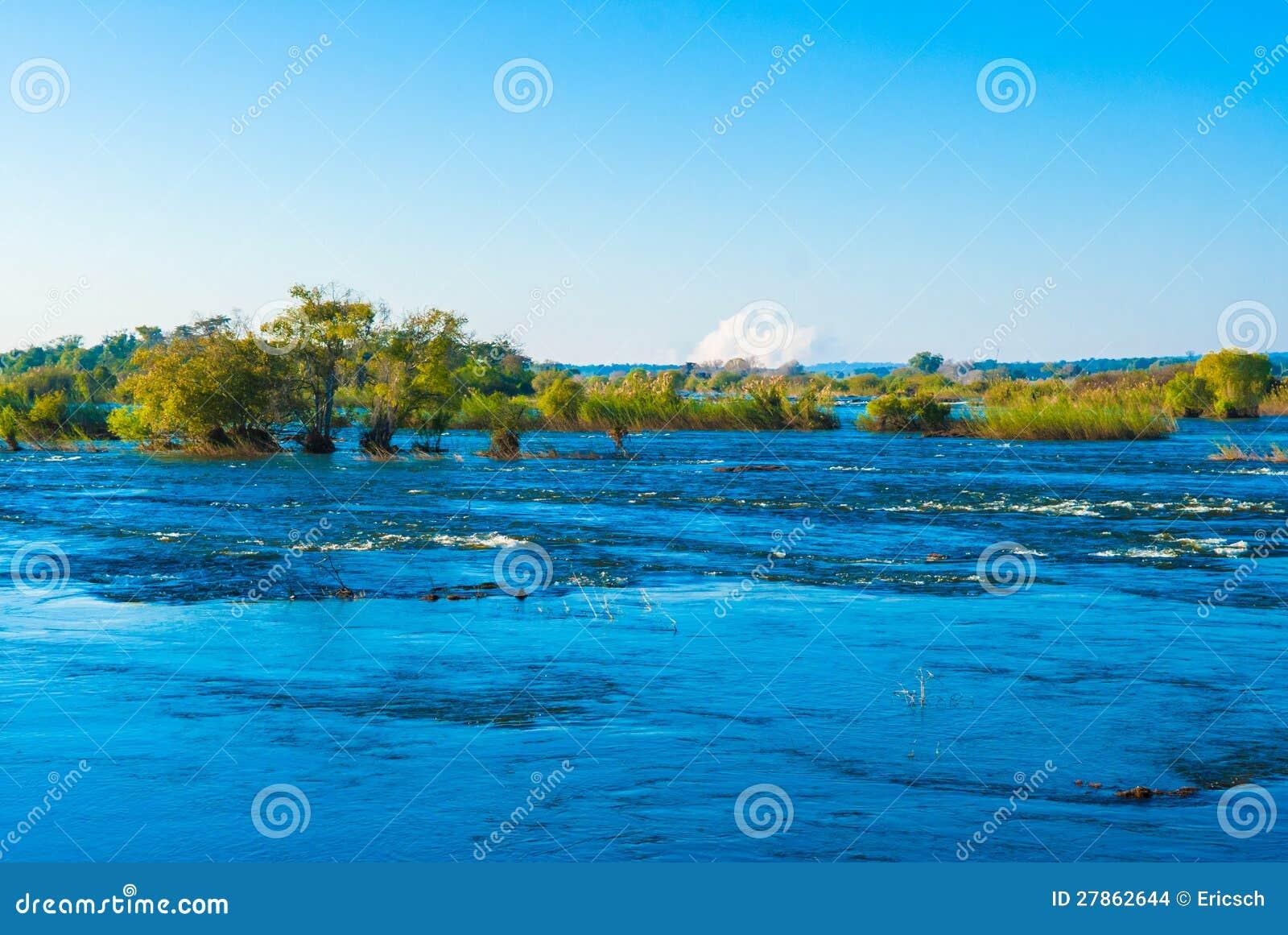 Widok nad Zambezi Rzeką