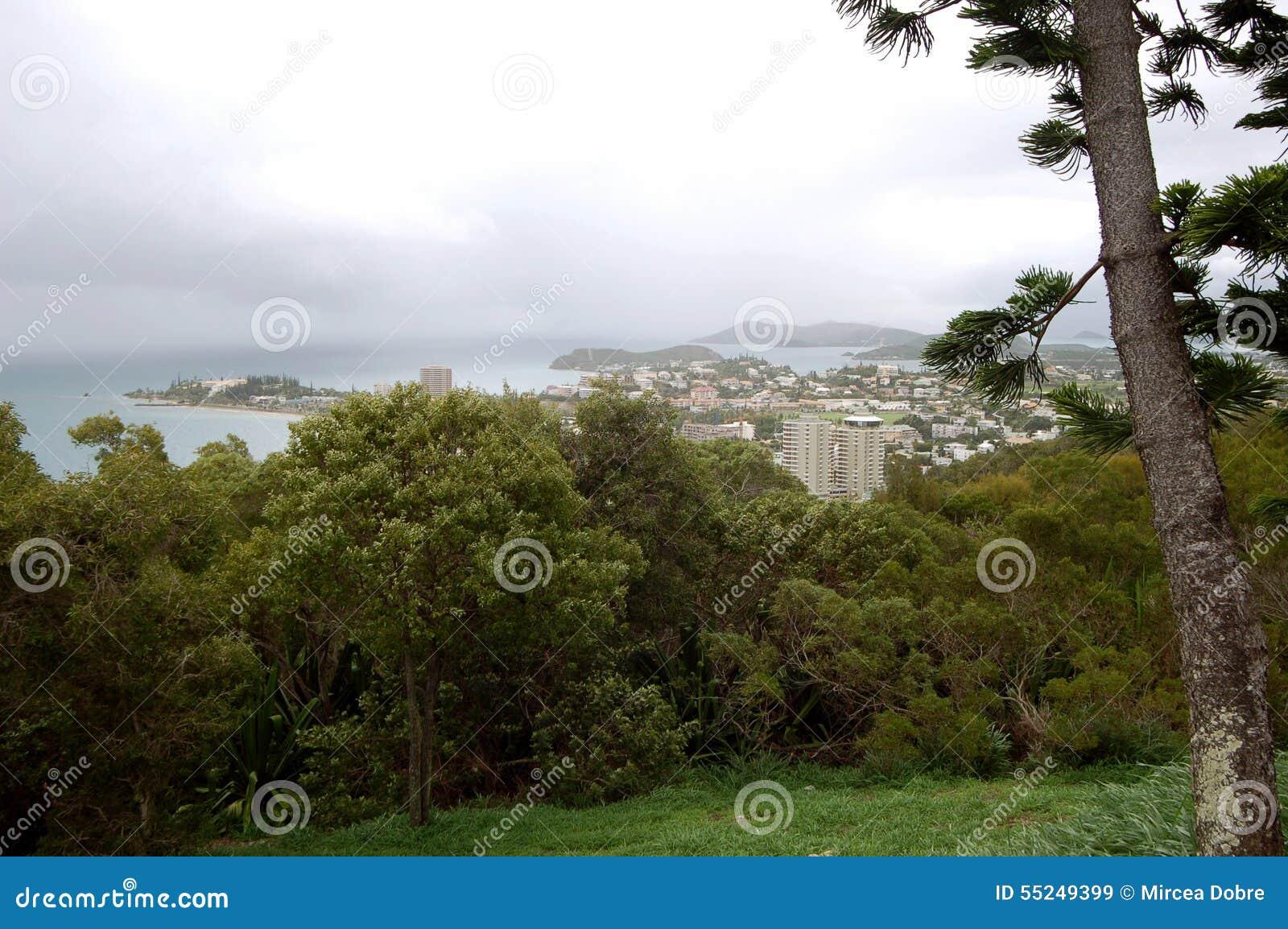 Widok Noumea, Nowy Caledonia