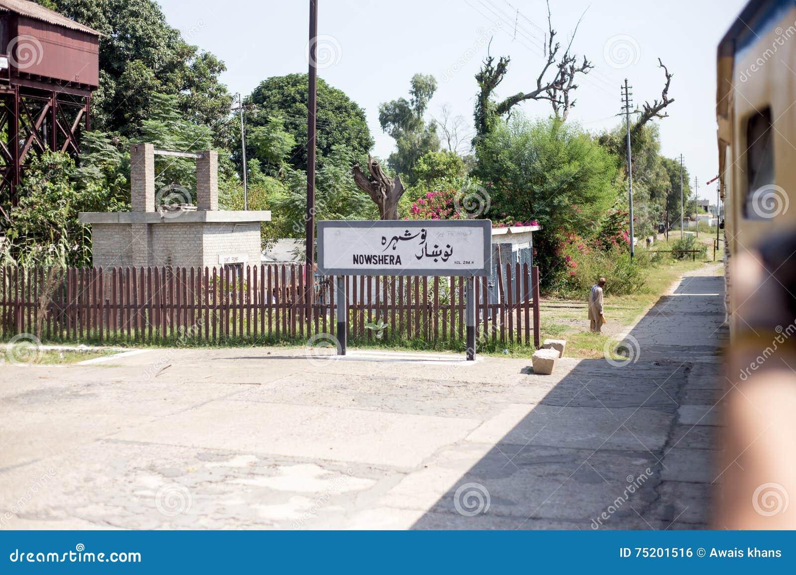 Widok Nowshera stacja kolejowa i miejsce gościnność