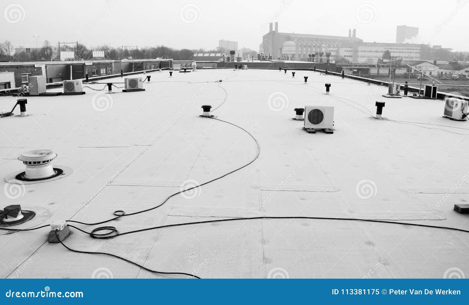 Widok od dachu budynek w Nijmegen holandie