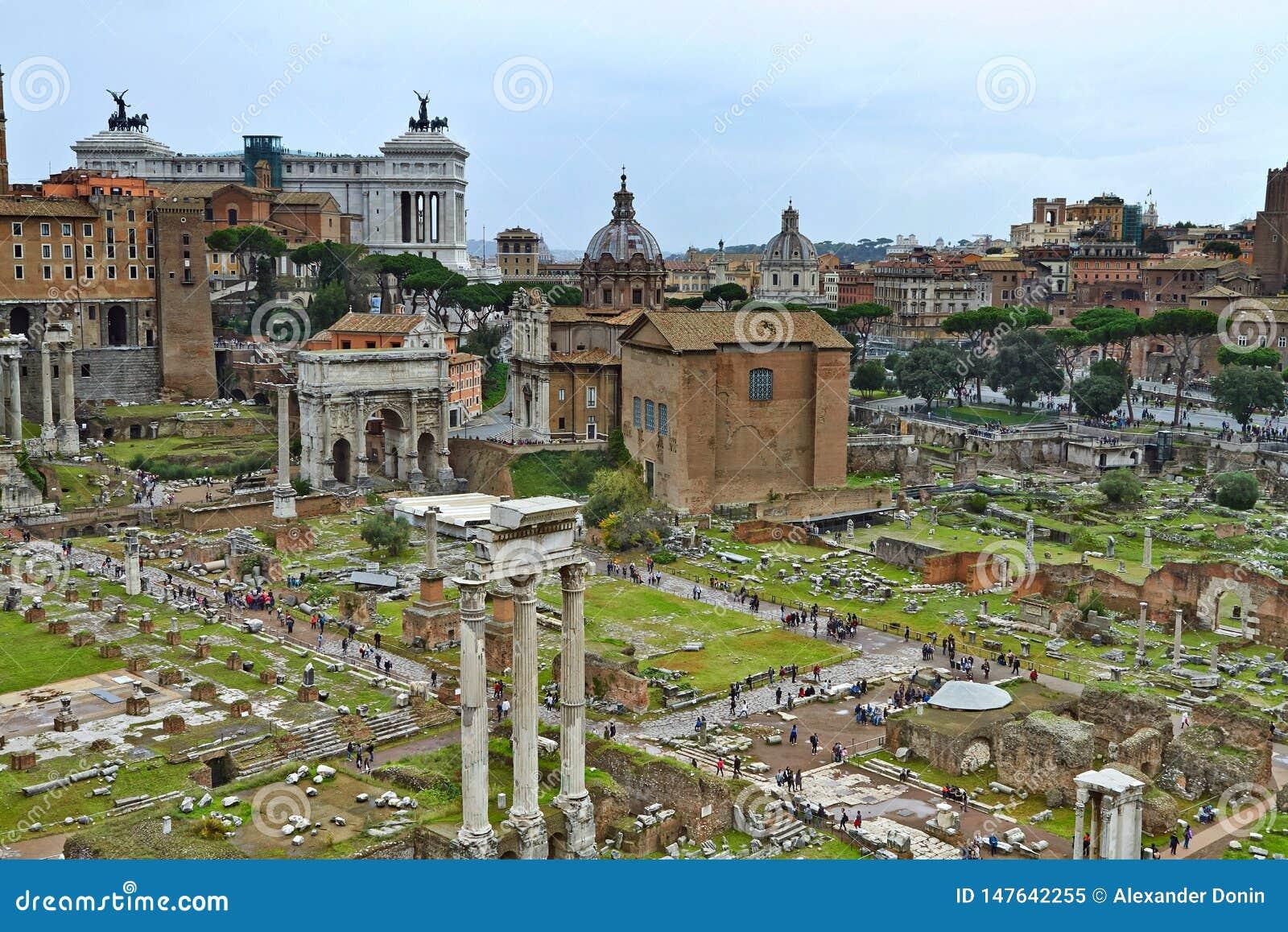 Widok od Roma?skiego forum