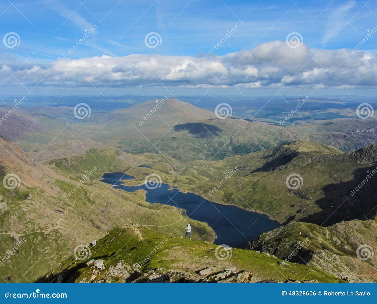 Widok od Snowdon szczytu