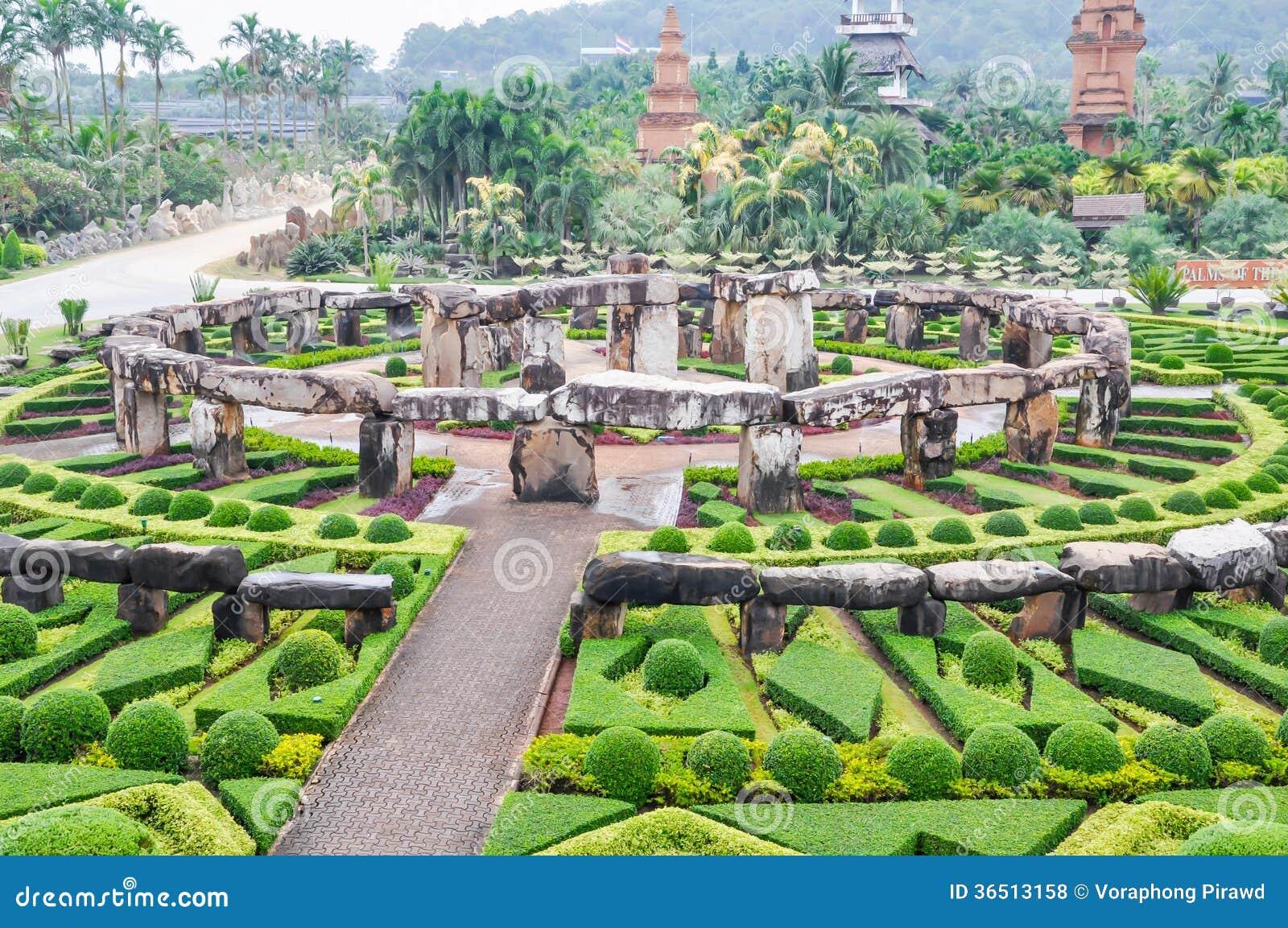 Widok ogród przy Nong Nooch ogródem, Pattaya