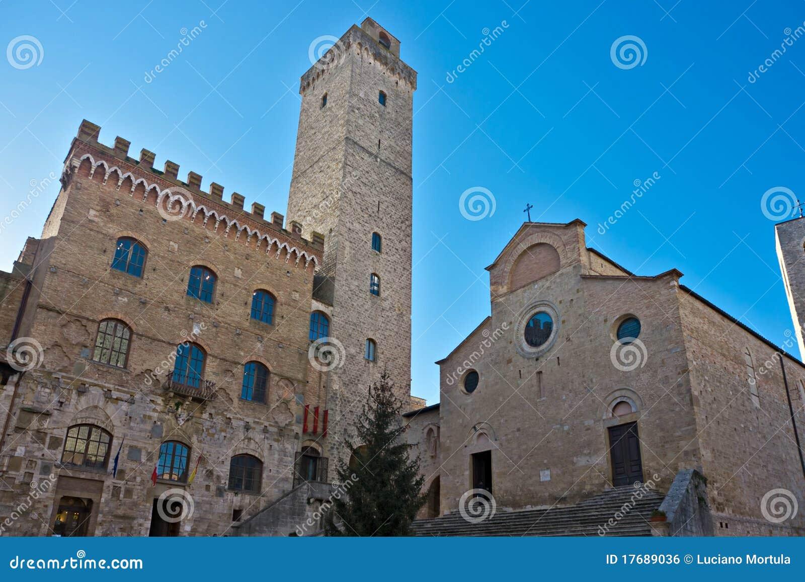 Widok San gimignano, Tuscany, Włochy.
