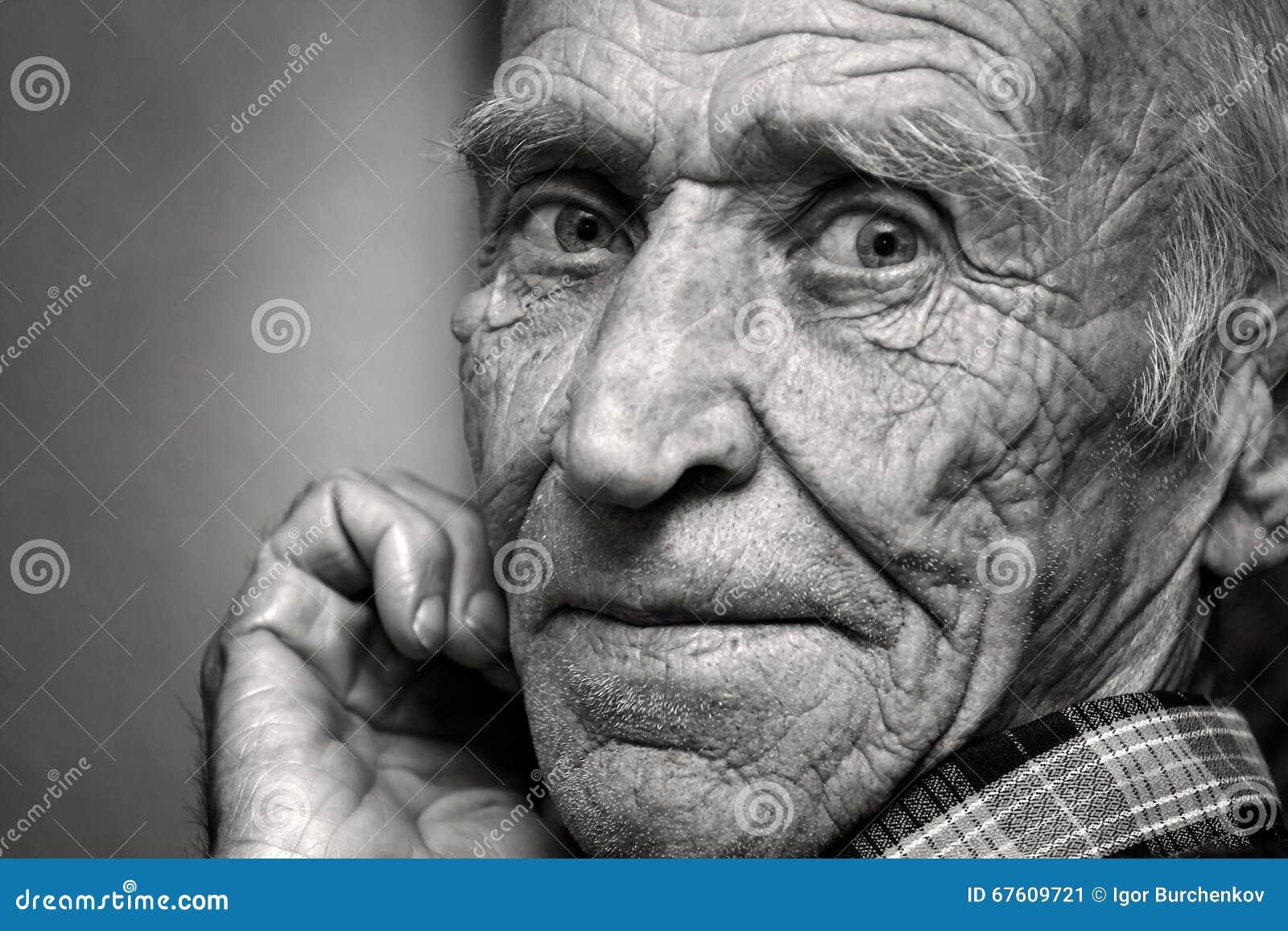 Widok stary człowiek