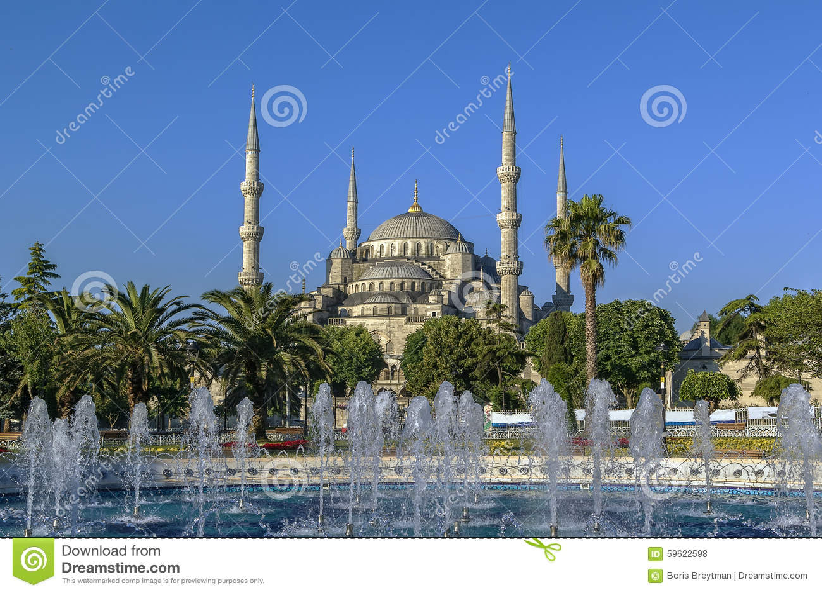 Widok sułtanu Ahmed meczet, Istanbuł