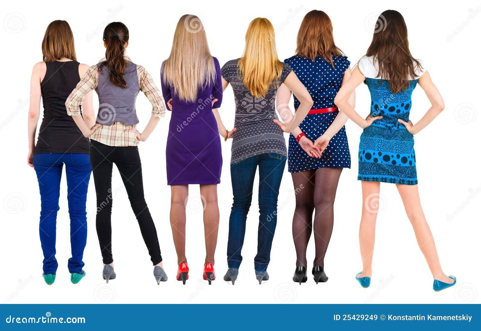 Widok tylna grupowa kobieta