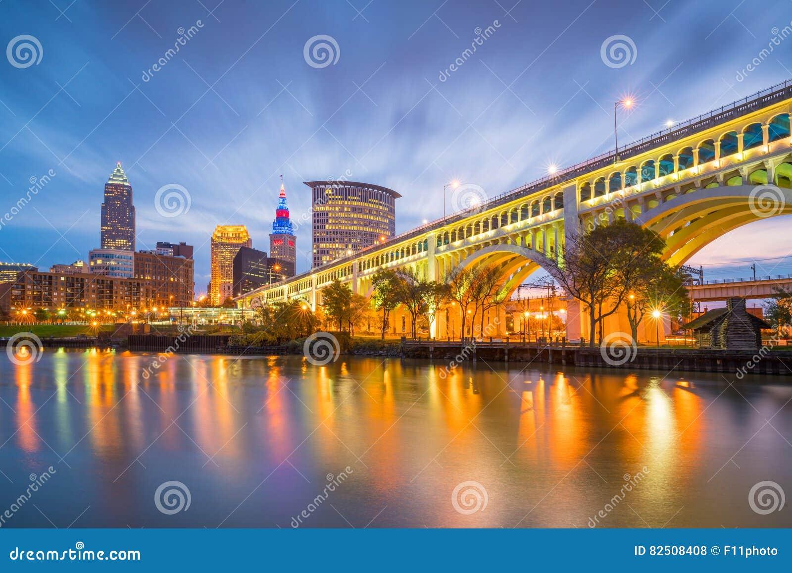 Widok w centrum Cleveland