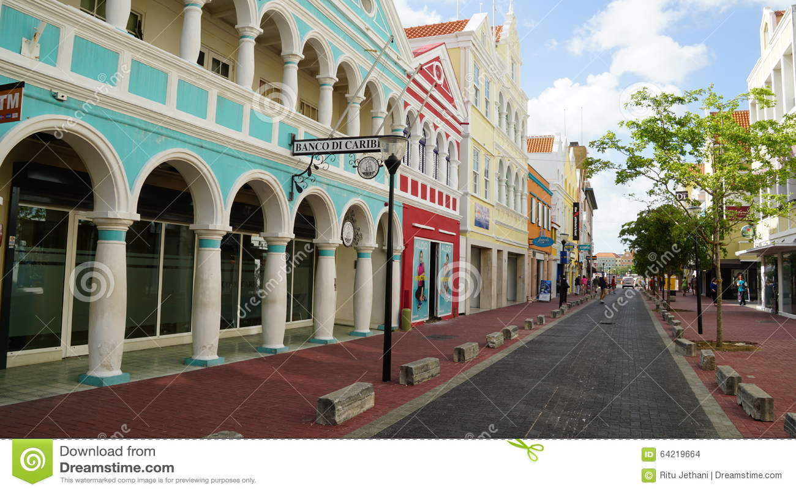 Widok Willemstad, Curacao