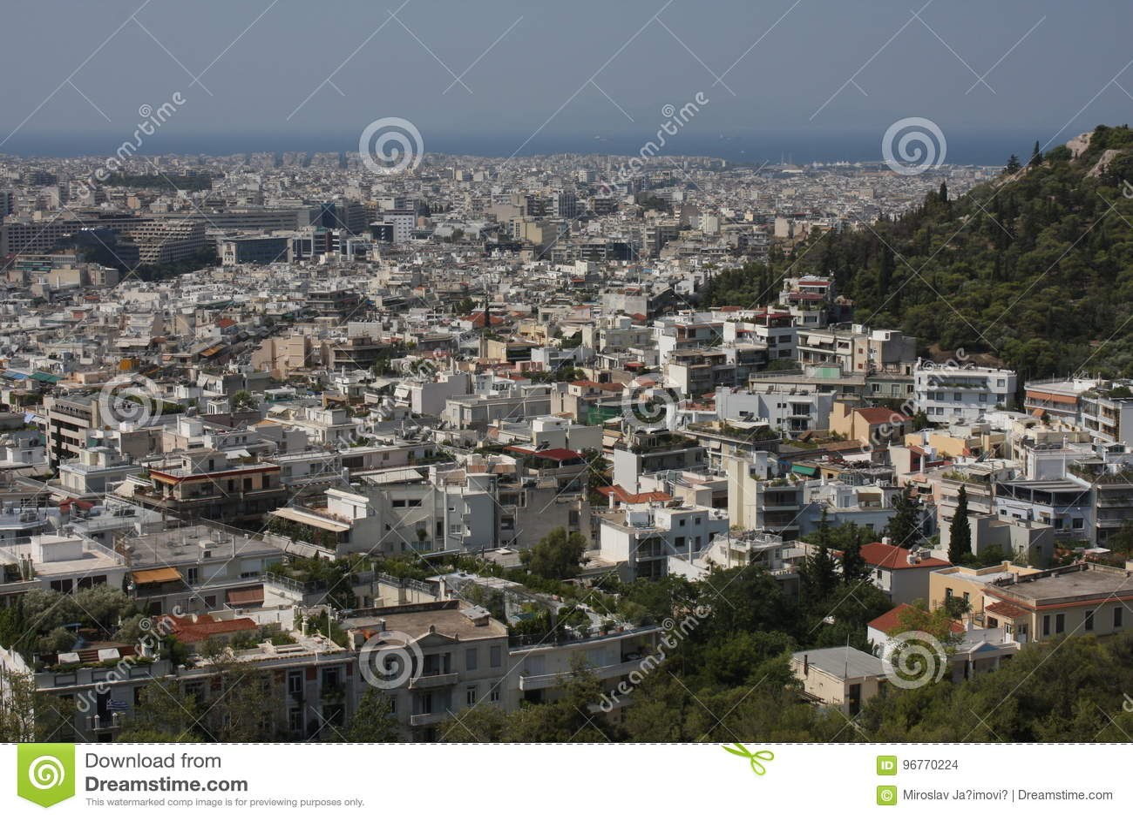 Widok z lotu ptaka Ateny, Grecja
