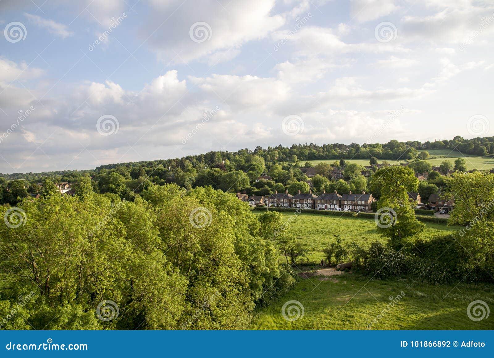 Widok z lotu ptaka Buckinghamshire krajobraz